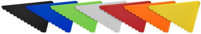 grattoir triangulaire publicitaire